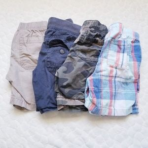 Toddler boys shorts cargo elastic waist 4t khaki